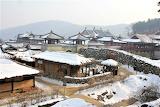Korean village - snow