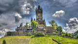 A former Imperial castle in the German city of Cochem on the Mos