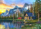 #Sunset At Log Cabin by Dominic Davison