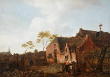 Woman at a Village Well by Jan van der Heyden