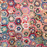 Grandmother's Flower Garden Quilt, 1950s