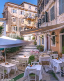 Corfu old town Greece