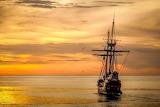 Atardecer barco