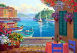 veranda with sea view