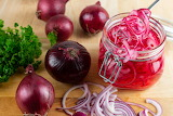 ^ Pickled red onions