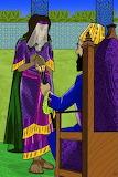 Esther descubrío al rey la avaricia de Amán