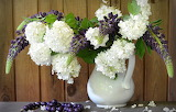 Bouquet, hydrangea, Lupin, vase
