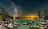 Emerald bay at dusk, Tahoe