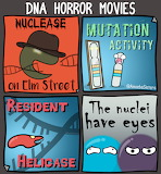 "Science amoebasisters ""DNA Horror Movies"""