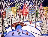 #Ice Skaters in the City by Renie Britenbucher
