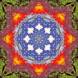 Colorful kaleidoscope abstract kg28
