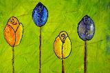 Oil Painting Folk Art Flowers