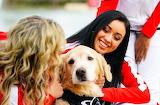 Cheerleader & Dog