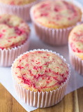 Unfrosted strawberry cupcakes