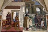 Abbazia MonteOliveto Maggiore Siena affresco Sodoma 03 capistero