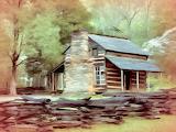 ^ Old Log Cabin