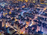 Aerial view of the highly dense old city of shum shui po