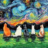 starry night cats