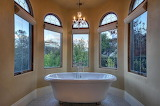 modern bath in the country