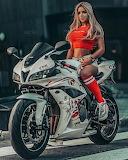motorcycle,girl