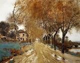 A Lane of Plane Trees - JF Raffaelli 1910