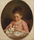 Charles Josuah Chaplin, le château de cartes, 1855