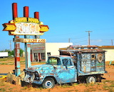 Old Abandoned Truck Ranch House Cafe Route 66-The owners of the