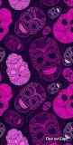 Pink red skulls