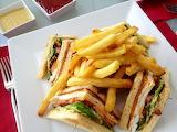 ^ Club sandwich and fries