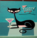 Retro 50's Cat Lounge