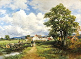 David Bates, View in Cornwall, 1901
