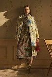 Floral Dress with Quilted Coat