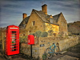 ^ The Old Post House in Stanton, England