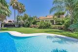 Rustic style Mediterranean villa, pool and garden