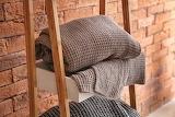 Gray blankets and bricks