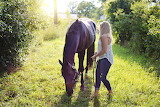 Woman with horse horse