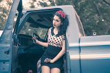 Vintage Truck and Girl