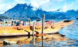 Boats, China