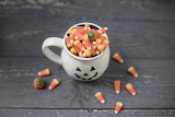 Mug with candy corn