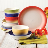^ Gibson Home Color Gloss dinnerware