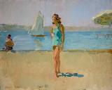 Isaac Israels, A lady at the beach