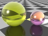 Spheres on Checkerboard