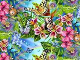 ~ Blue flowers and butterflies...