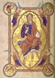 Miniature of Christ in Majesty, Aberdeen Bestiary