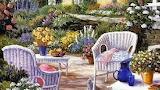 Lovely day in a garden