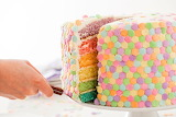 ^ Six layer pastel rainbow cake