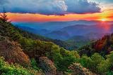 Sunset Blue Ridge Mountains