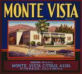 1940s Monte Vista Brand Washington Navel Oranges