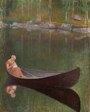 Pekka Halonen, Nainen veneessä, 1922