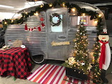 Vintage Scotty Camper decorated for Christmas